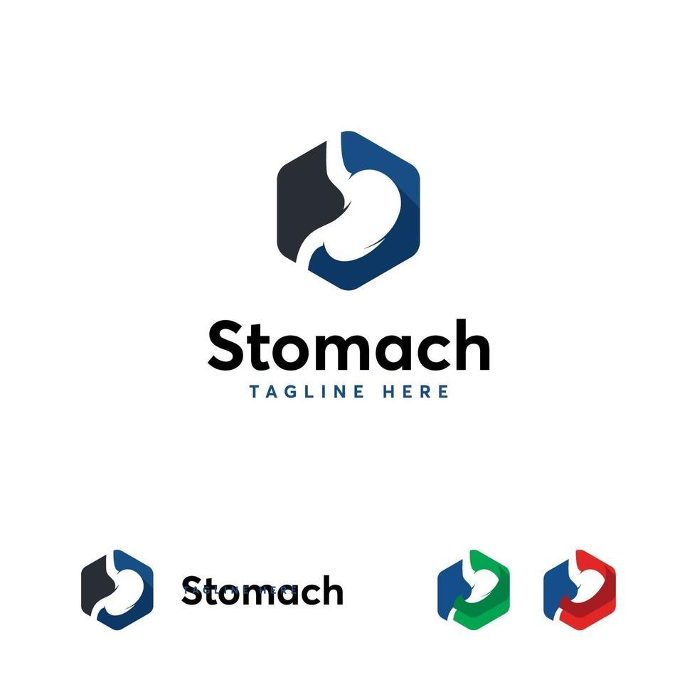 símbolo de diseños de logotipo de estómago, plantilla de logotipo de cuidado de estómago vector