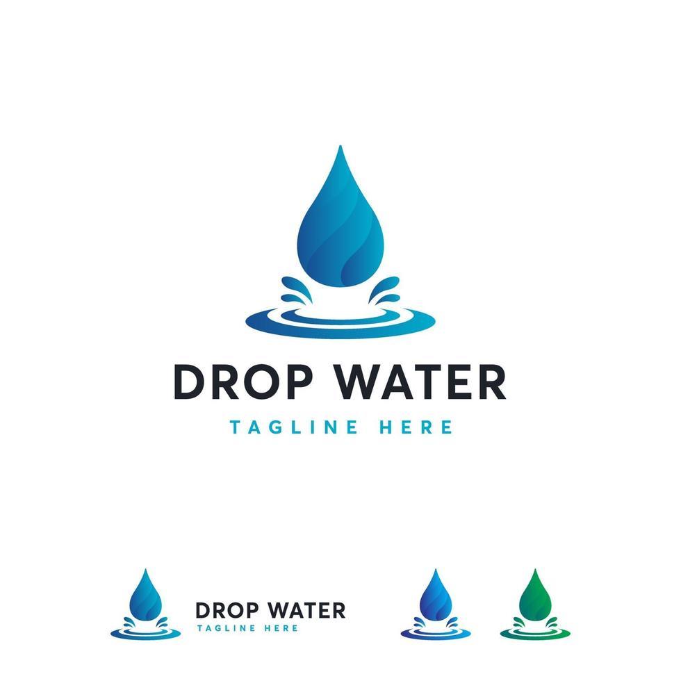 diseños de símbolo de logotipo de gota de agua moderna, vector de diseños de logotipo de agua dulce