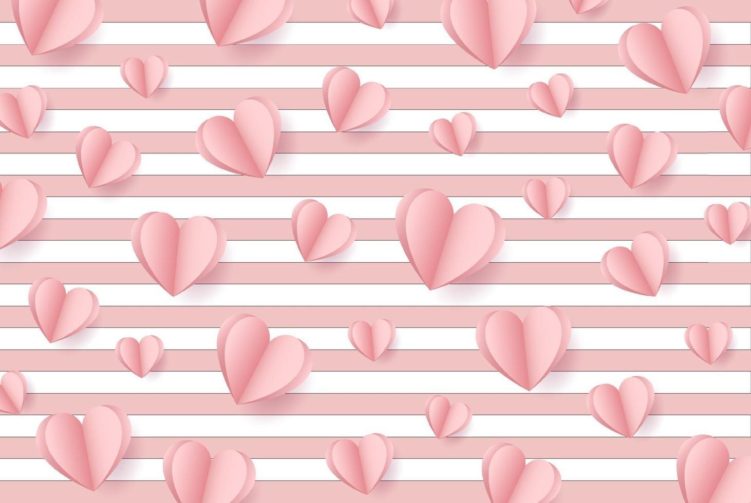 feliz día de San Valentín. con concepto creativo de globo de amor rosa sobre fondo rosa pastel para espacio de copia. concepto mínimo. ilustración vectorial vector