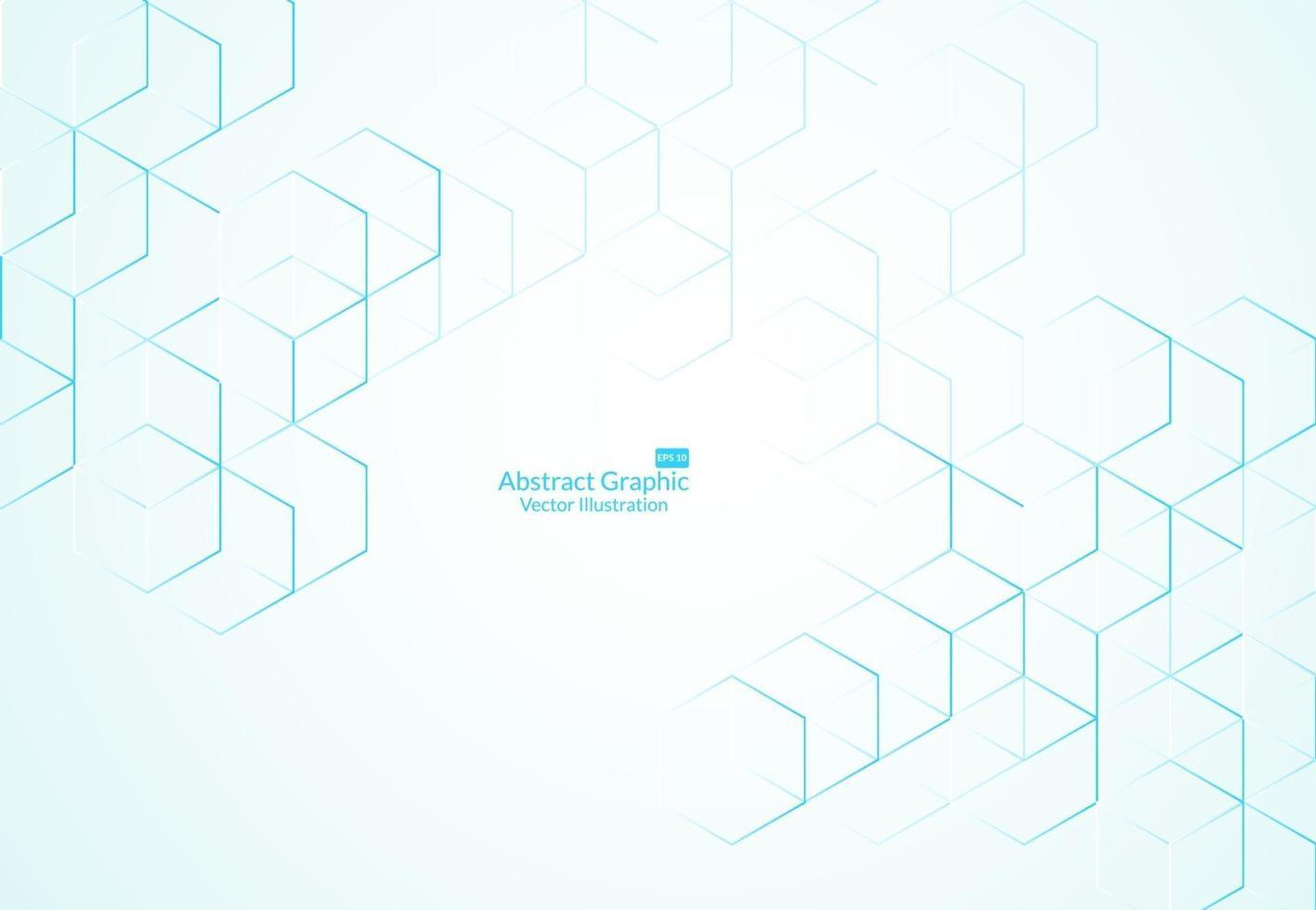 Fondo de cuadros abstractos. tecnología moderna con malla cuadrada. geométrico sobre fondo blanco con líneas. celda de cubo. ilustración vectorial vector