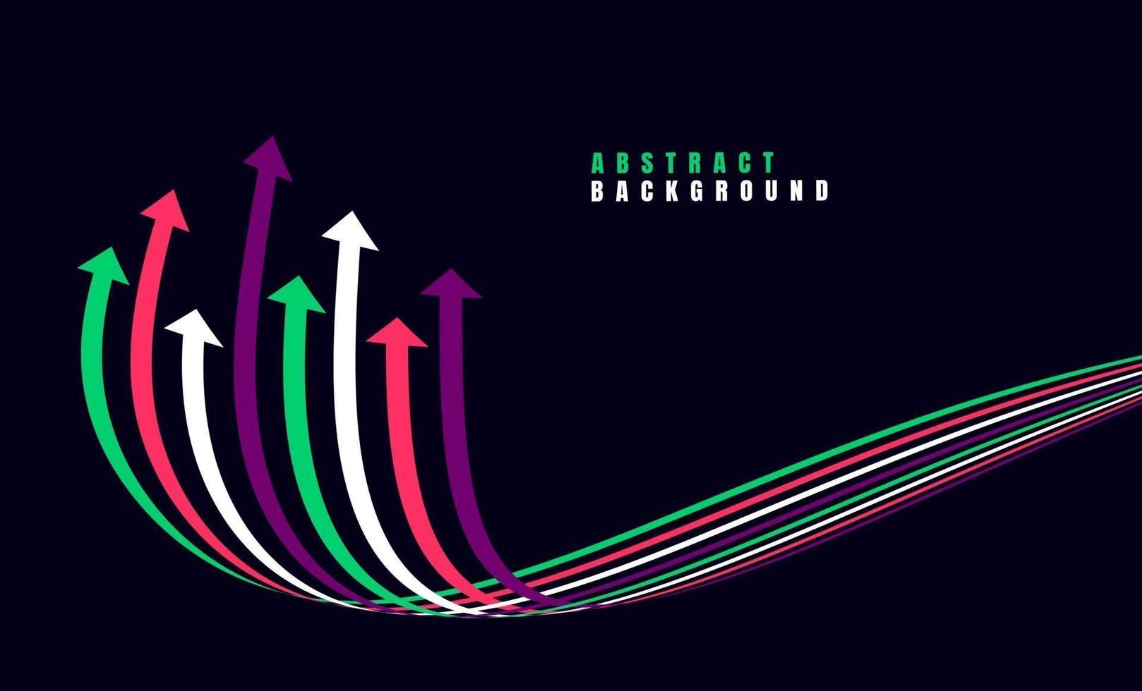 flechas de crecimiento financiero con colorido. ilustración vectorial vector