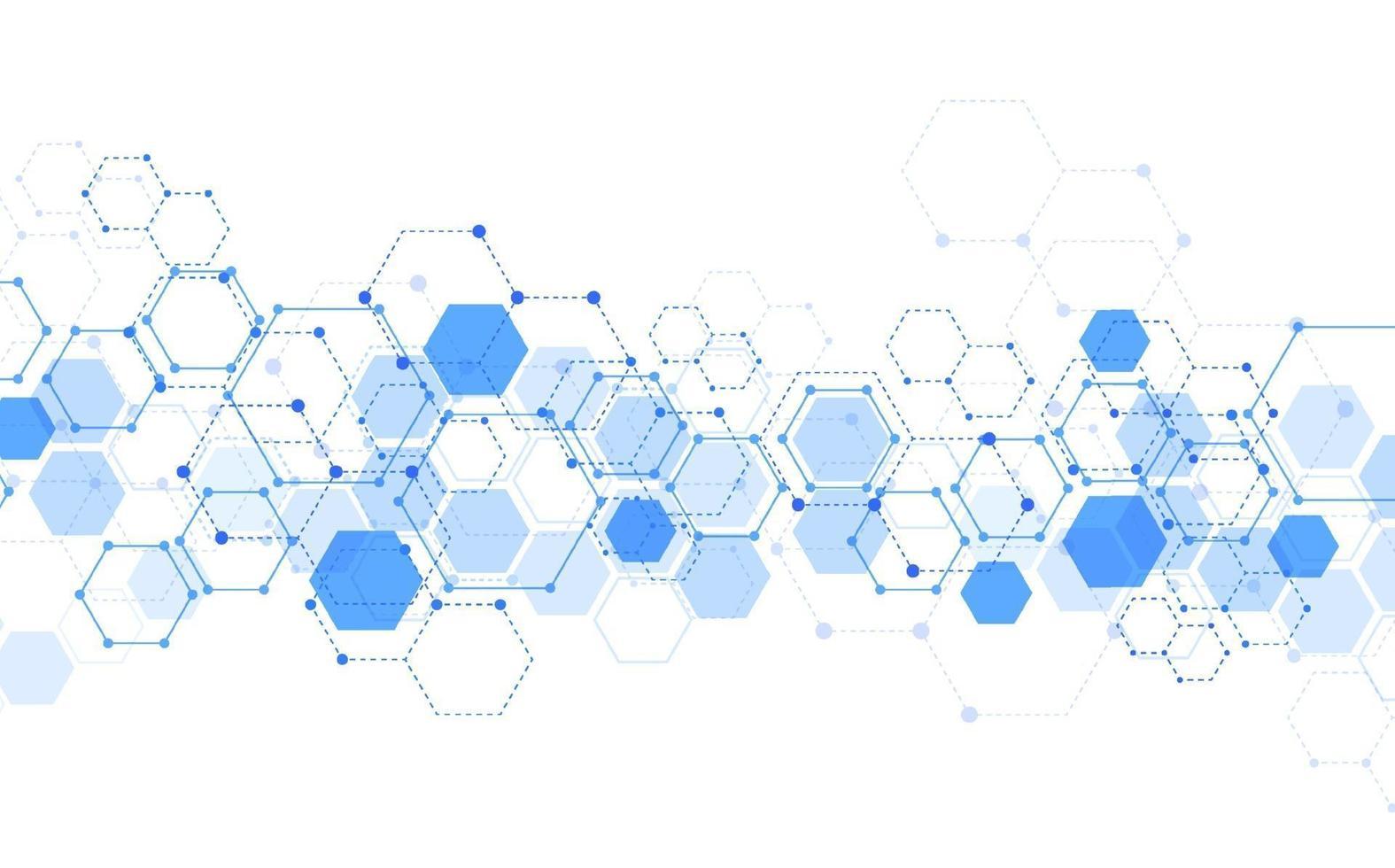 Fondo de tecnología abstracta de estructura molecular. diseño médico. ilustración vectorial vector