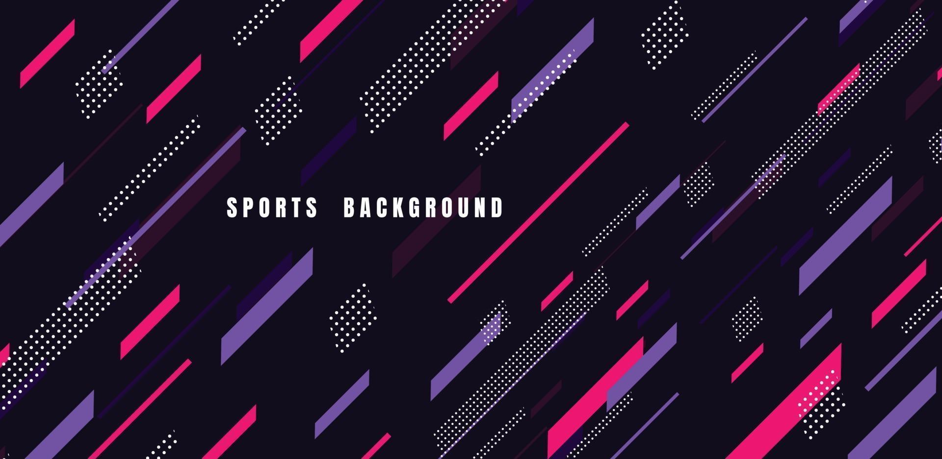 arte colorido abstracto para el fondo de los deportes. partículas dinámicas. elemento moderno de ciencia y tecnología con diseño de línea. ilustración vectorial vector