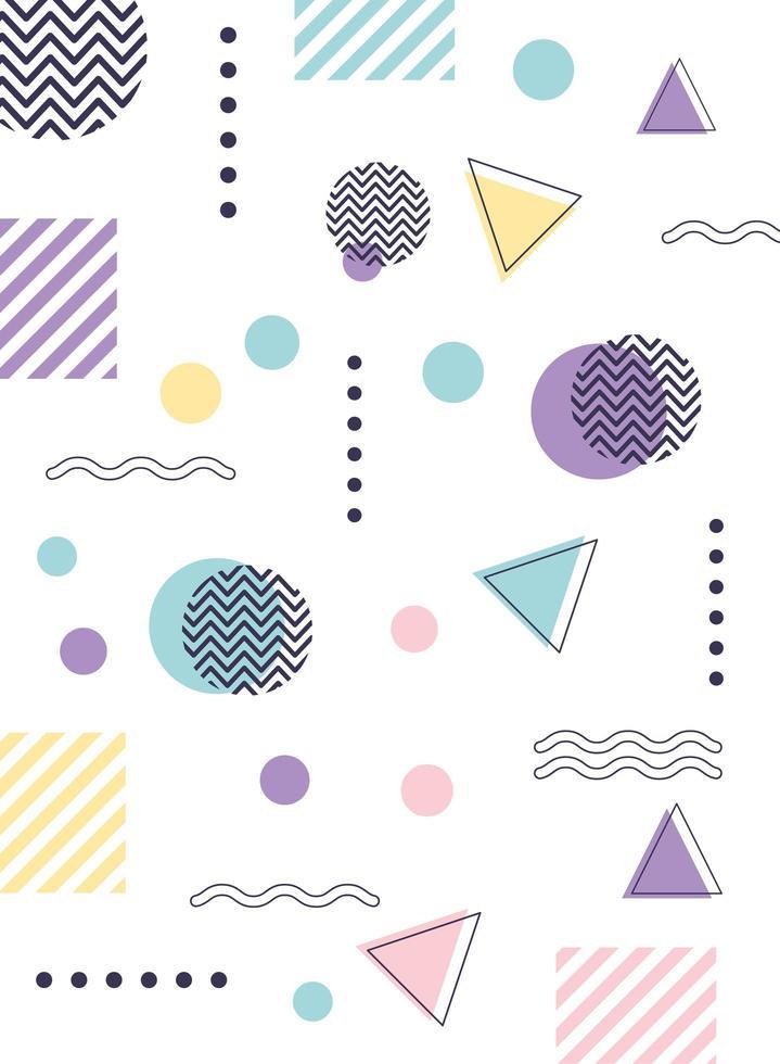 colorido fondo geométrico y abstracto vector