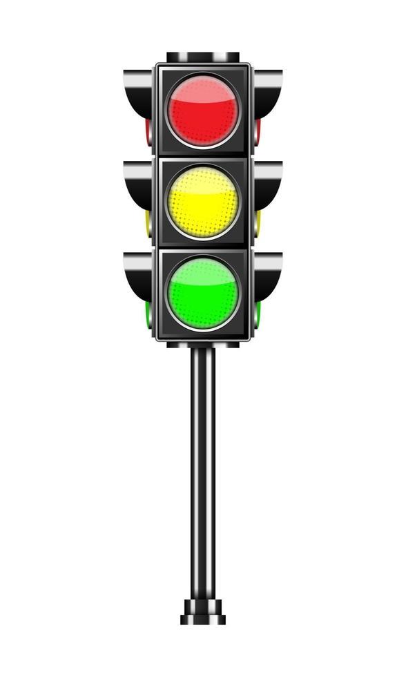 semáforo aislado sobre fondo blanco, ilustración vectorial vector