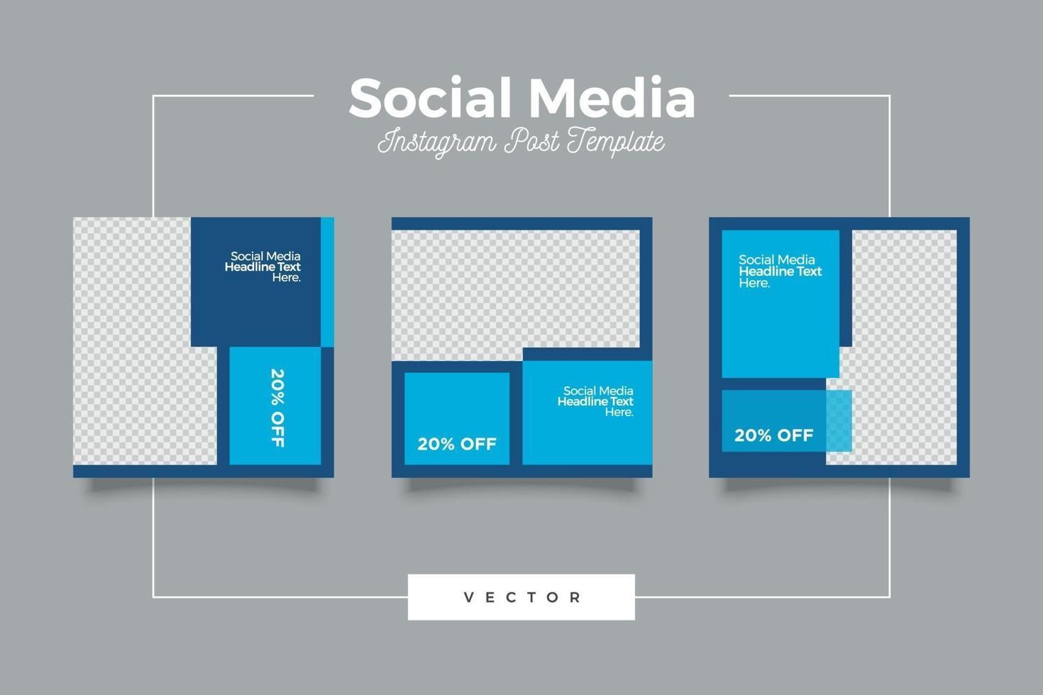 conjunto de banners de publicación de redes sociales de seminario web de transmisión en vivo vector