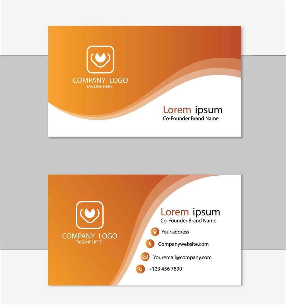plantilla de tarjeta de visita profesional limpia vector