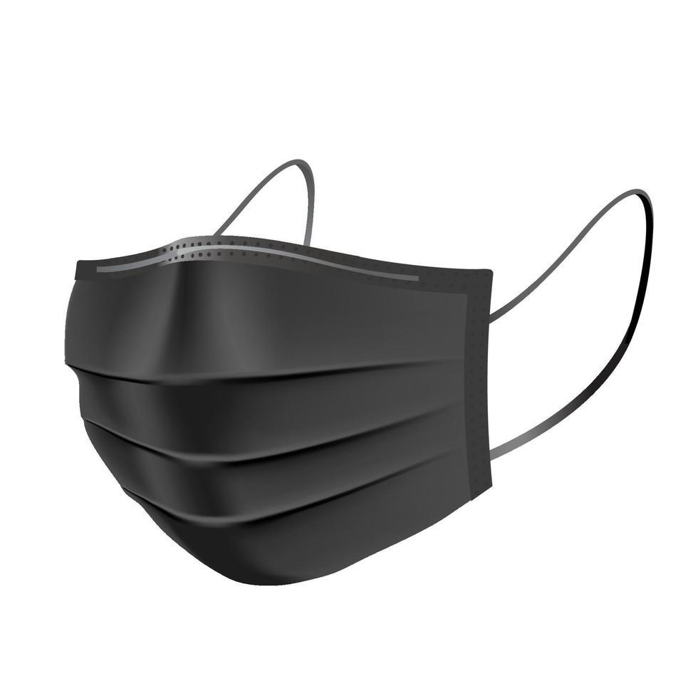 máscara de contaminación facial, para uso médico y polvo pm2.5, protección contra peligros o enfermedades de la salud, dispositivos de protección para la tos y el aliento, alergia para el hospital vector