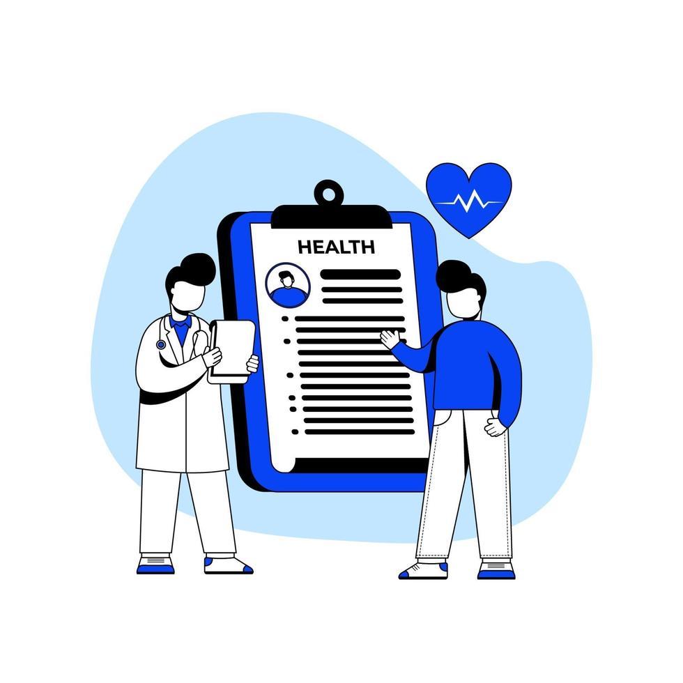 concepto de icono de medicina y salud vector