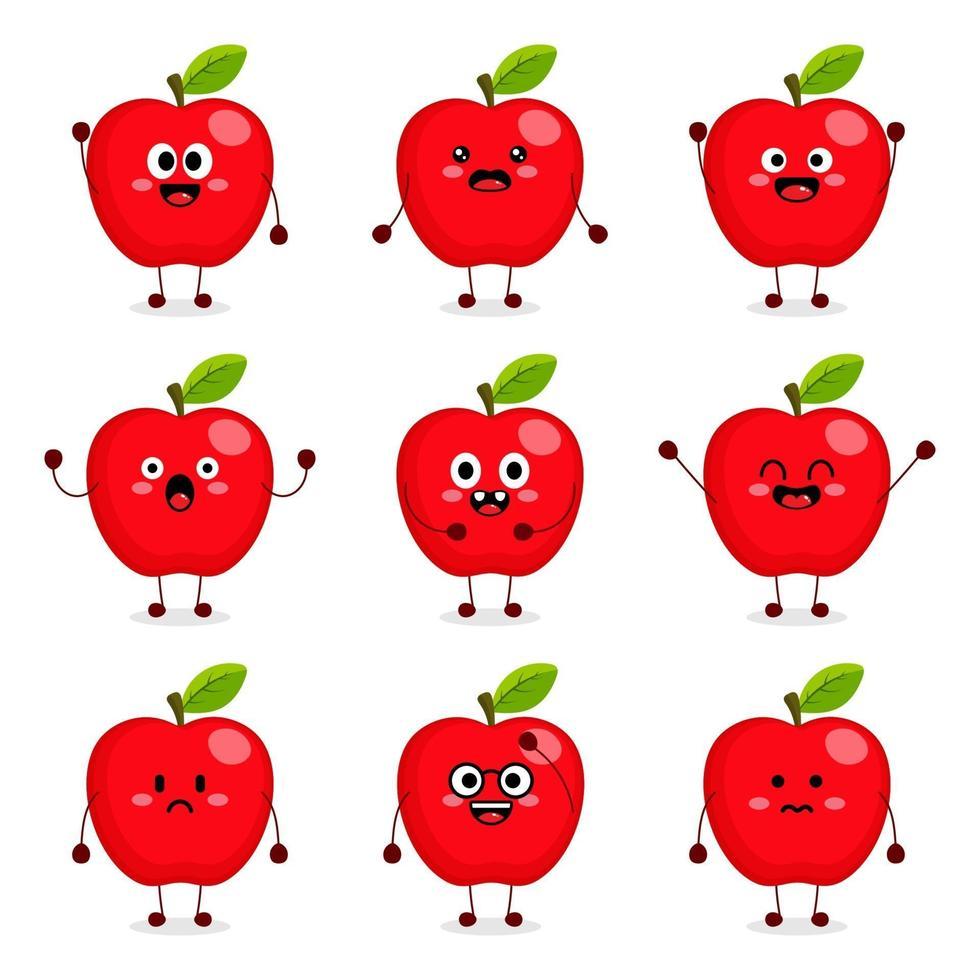 linda manzana vector