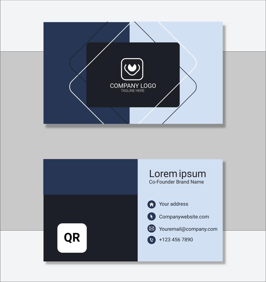 plantilla de tarjeta de visita limpia corporativa vector