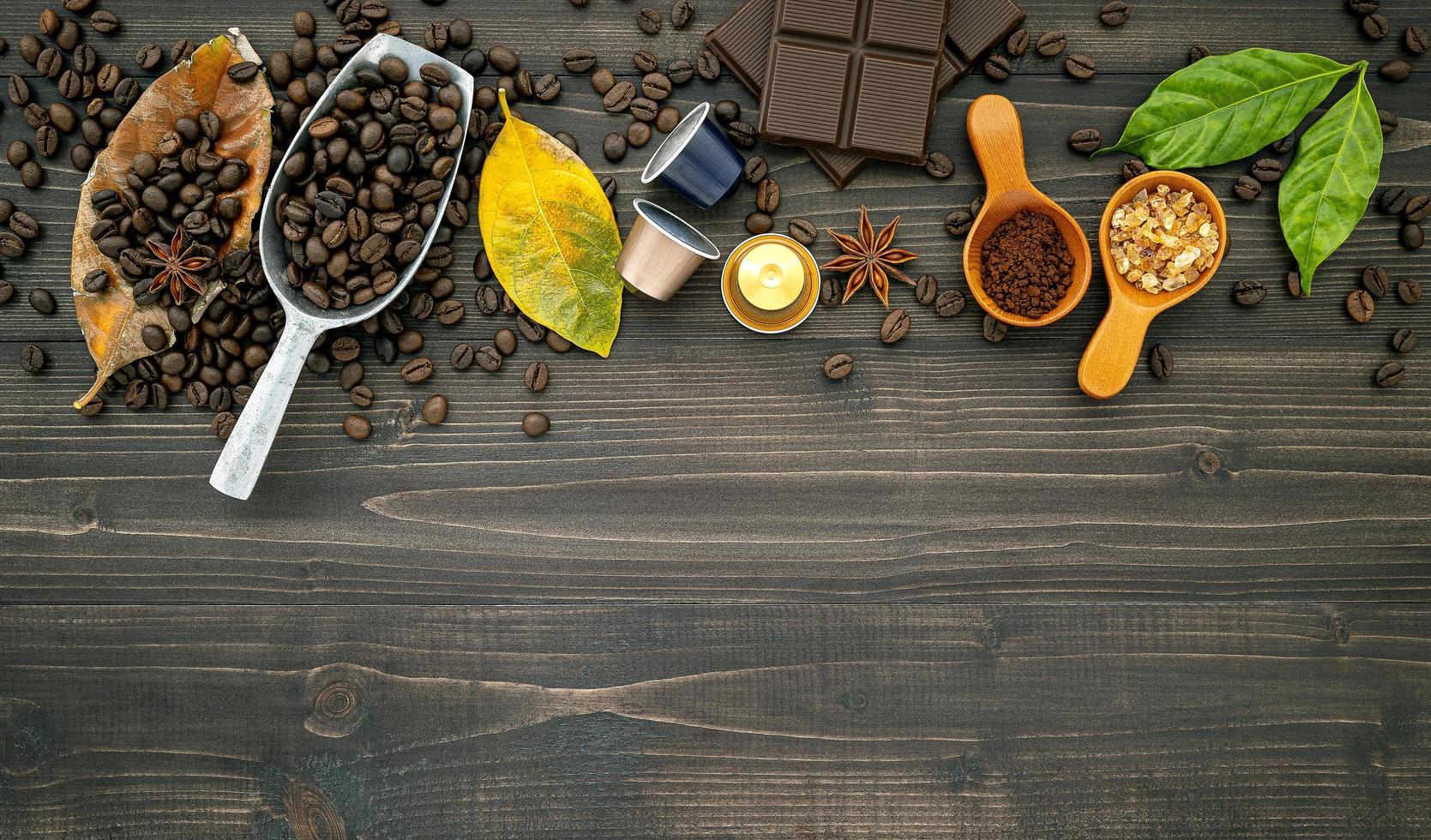 borde de cafe fresco foto