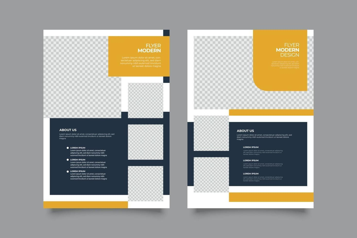 Modern yellow commercial flyer business template vector