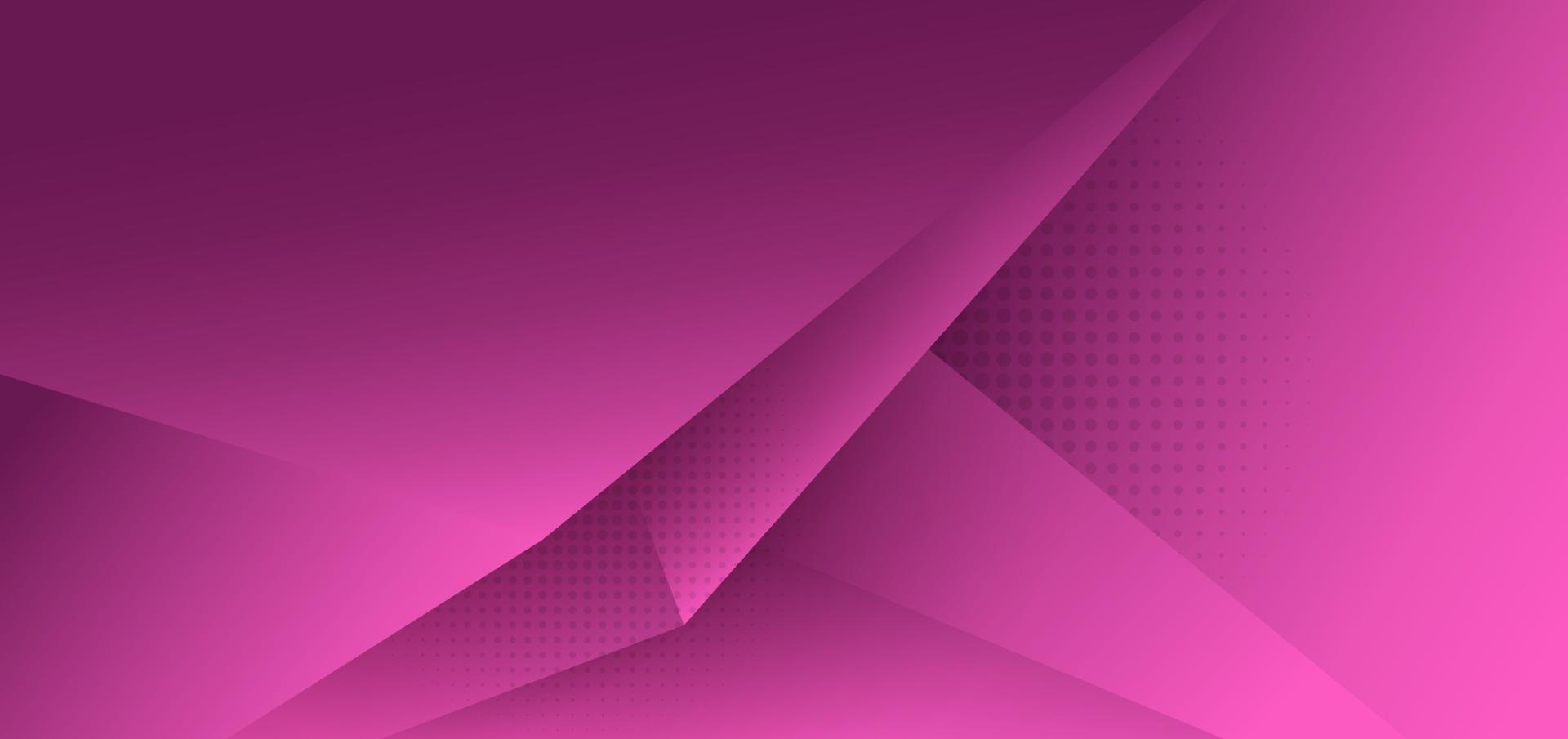 Fondo degradado triángulo polígono rosa abstracto con sombra y espacio para el texto. vector