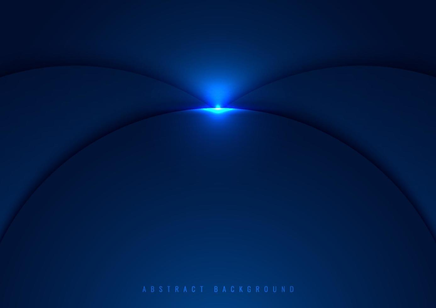 Blue circles overlapping layered with glow lighting effect on dark background vector