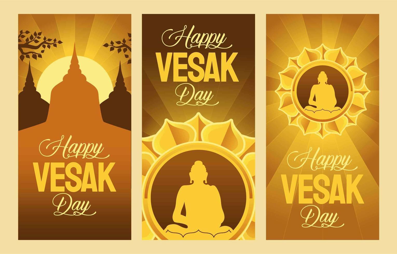 Vesak Day Banner vector