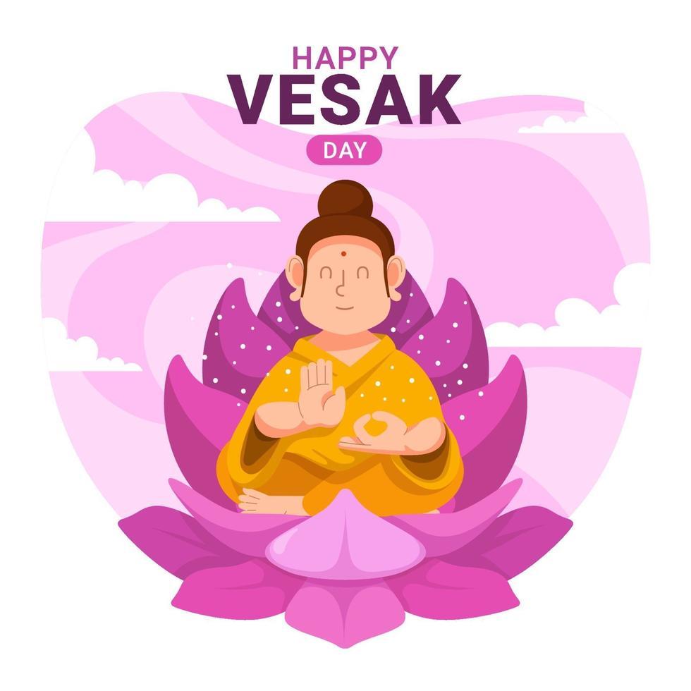 Happy Vesak Day Design vector