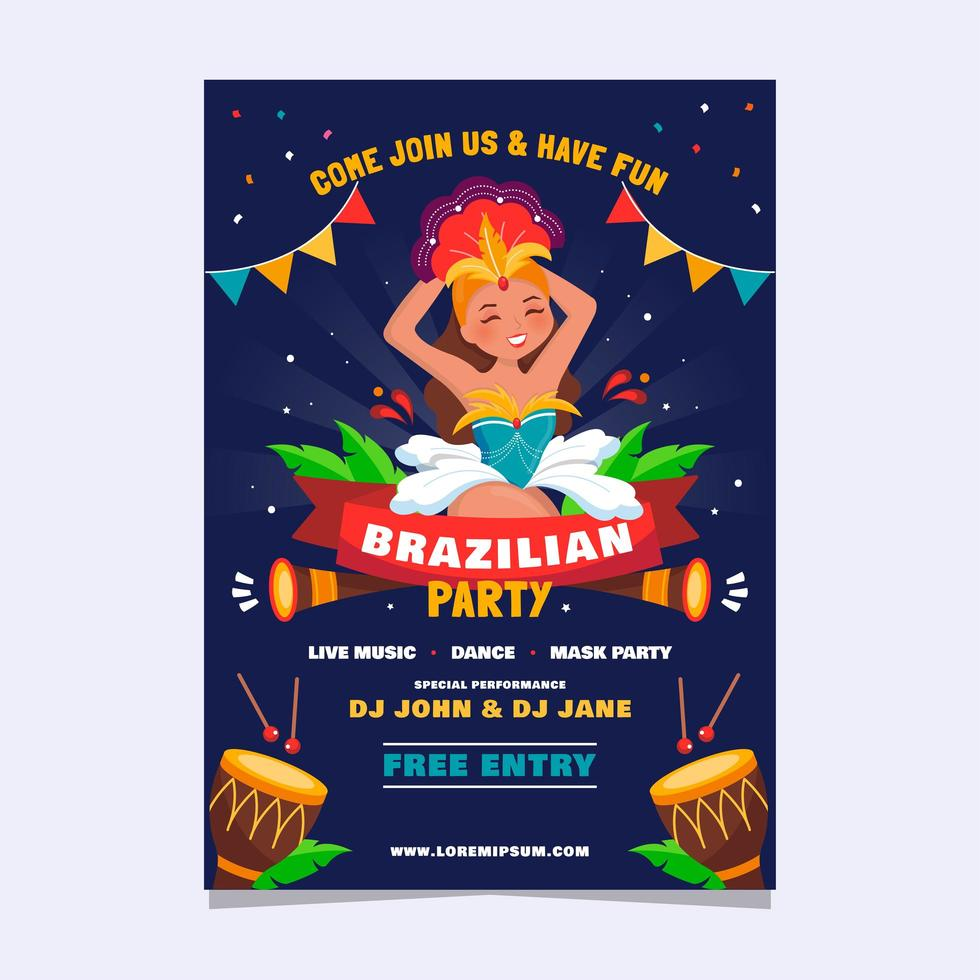 Rio Festival Party Full of Song and Dance vector