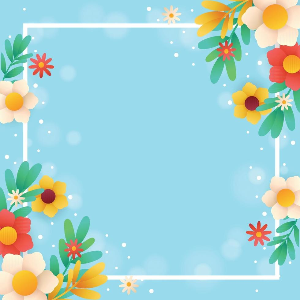 Spring Nature Template Background vector