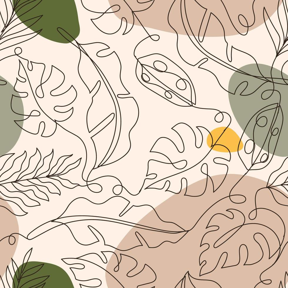 Seamless Tropical Plant Background vector