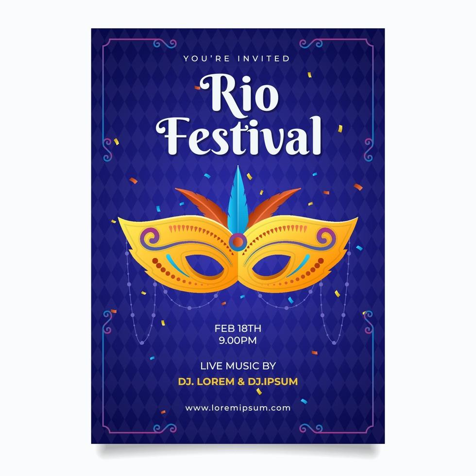Rio Festival Poster vector