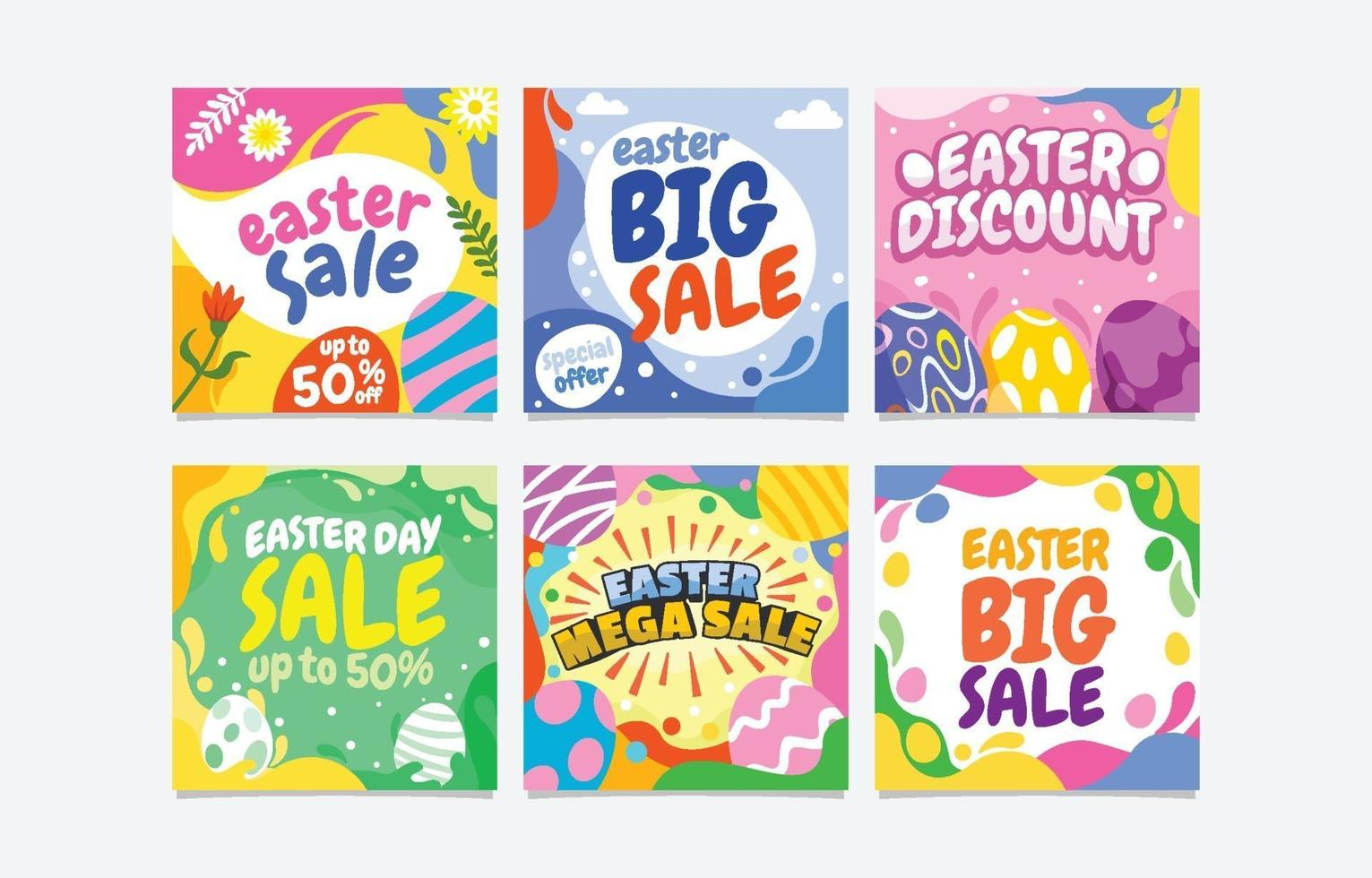 Happy Easter Day Sale Social Media vector