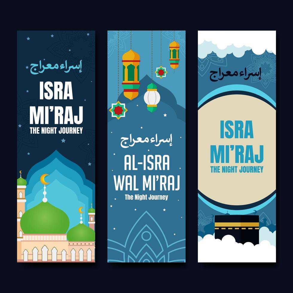Isra Mi'raj Banner Collection vector