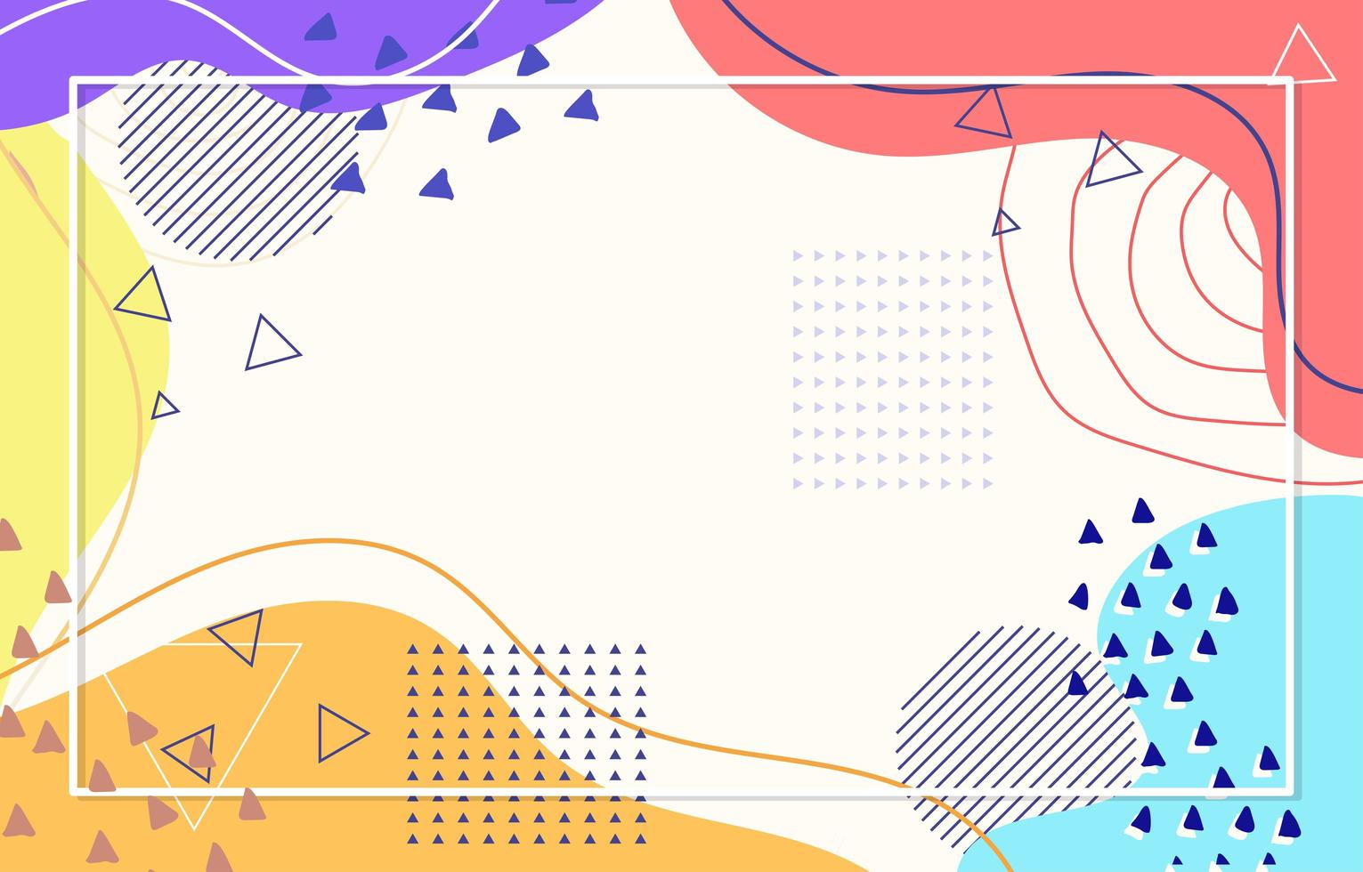Abstract Colorful Flat Background vector
