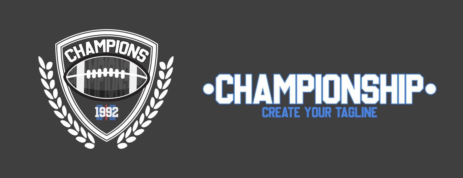 diseño de escudo de fútbol americano vector