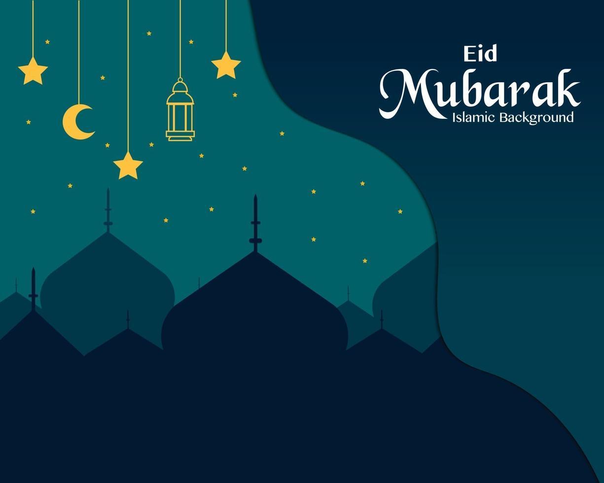 vector de tarjeta de felicitación eid mubarak