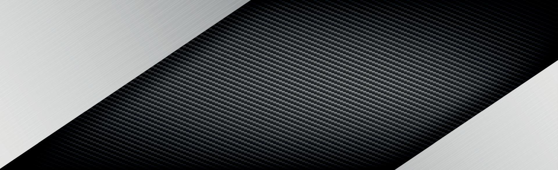 Fondo de textura de fibra de carbono y metal abstracto - ilustración vectorial vector