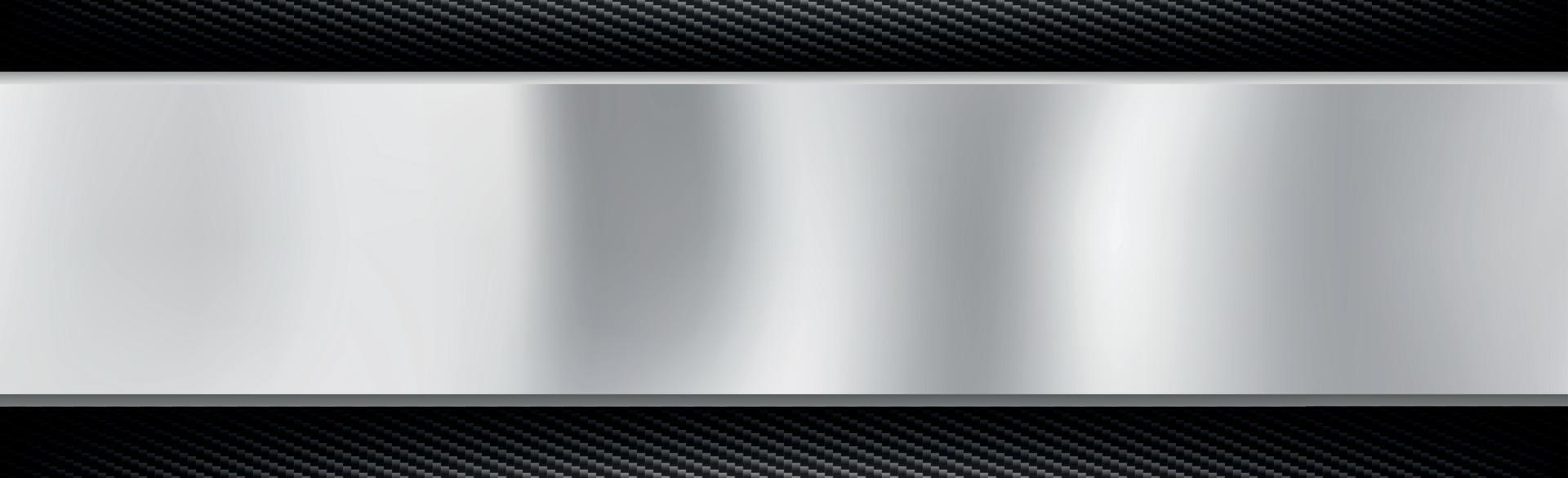 Abstract metal and carbon fiber texture background - Vector illustration