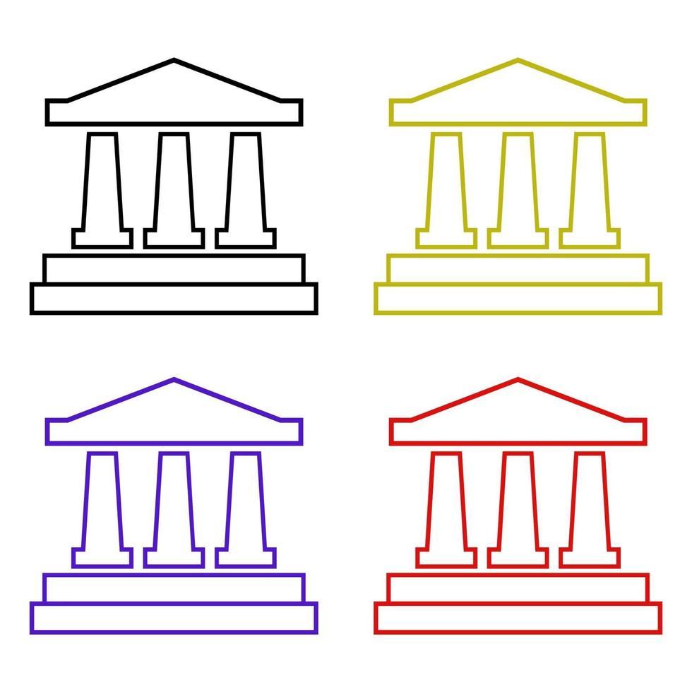 banco en fondo blanco vector
