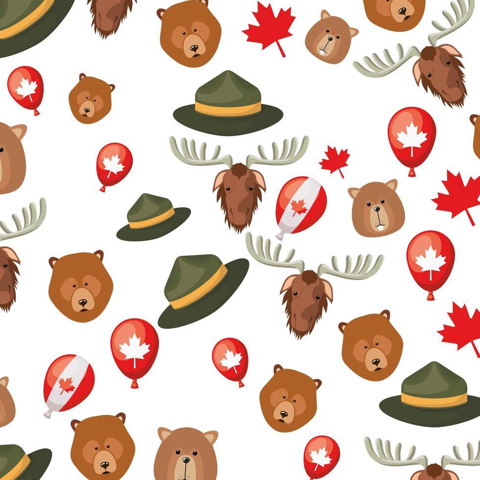 Canada pattern background design vector