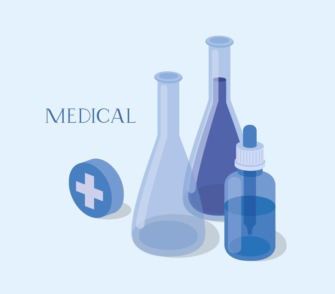 diseño de iconos médicos vector