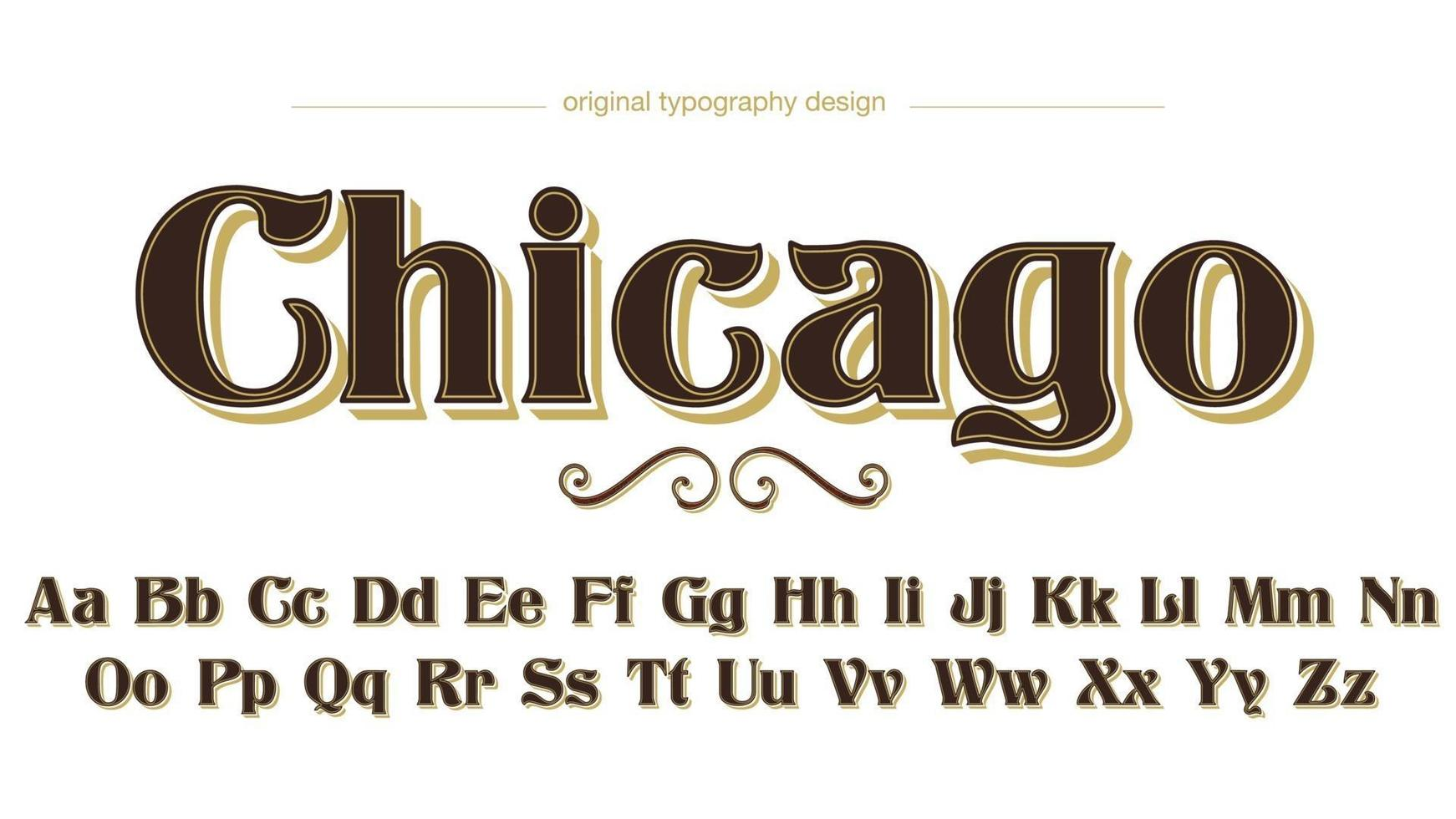 Coffee Luxury Serif for Multiple Purposes Typography Text Effect vector