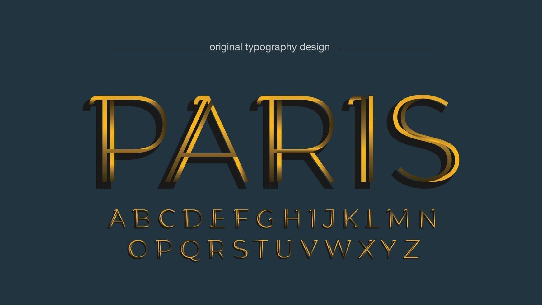 Golden Elegant Fine Isolated Typography vector