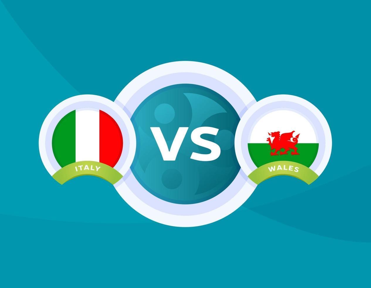 italy vs Wales match 2084706 Vector Art at Vecteezy