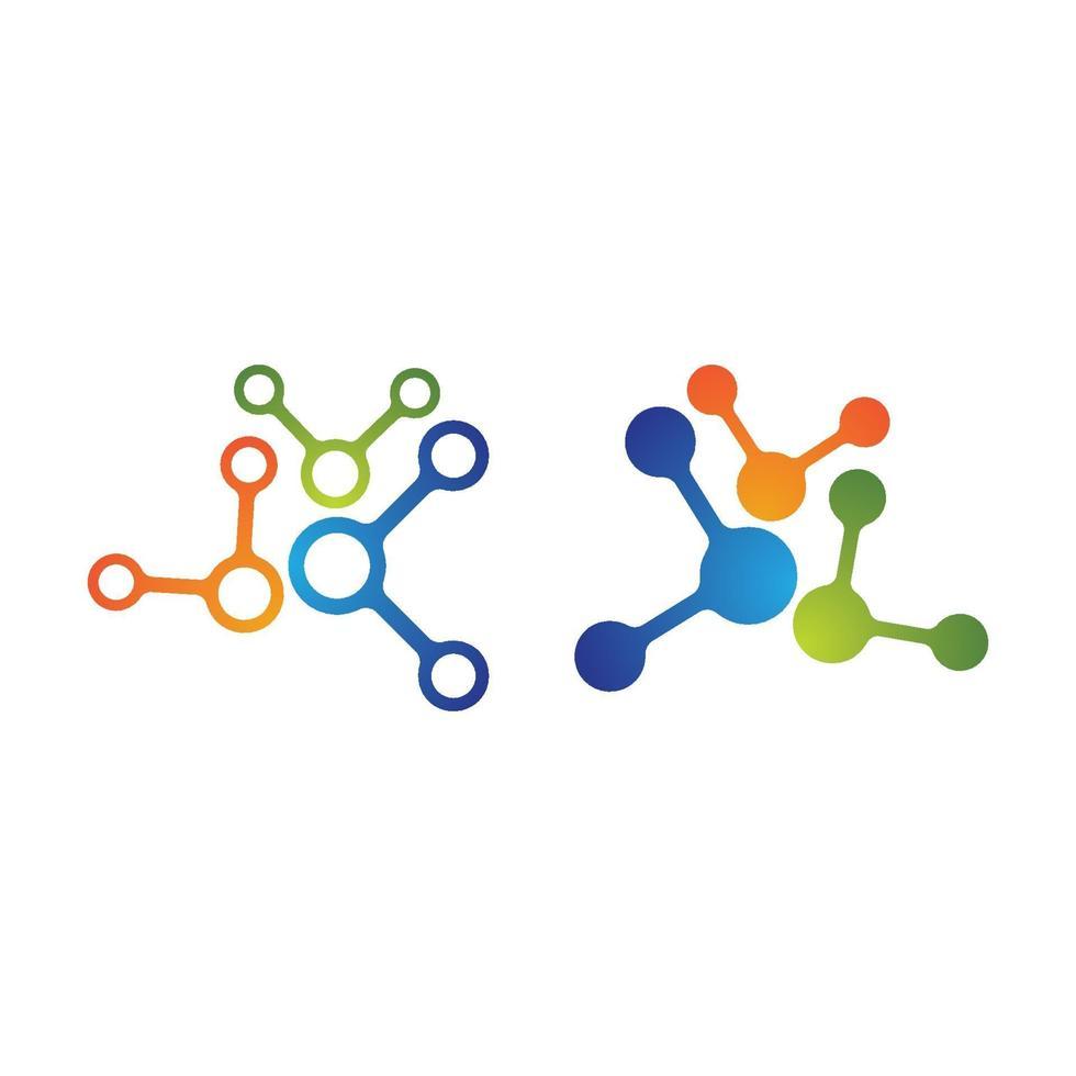 conjunto de diseño de logotipo de molécula vector