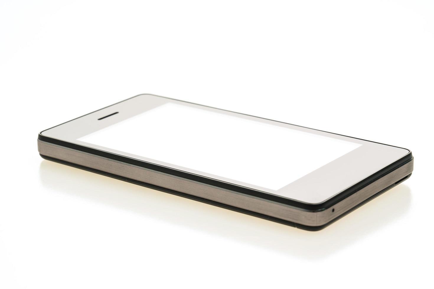 smartphone sobre fondo blanco foto