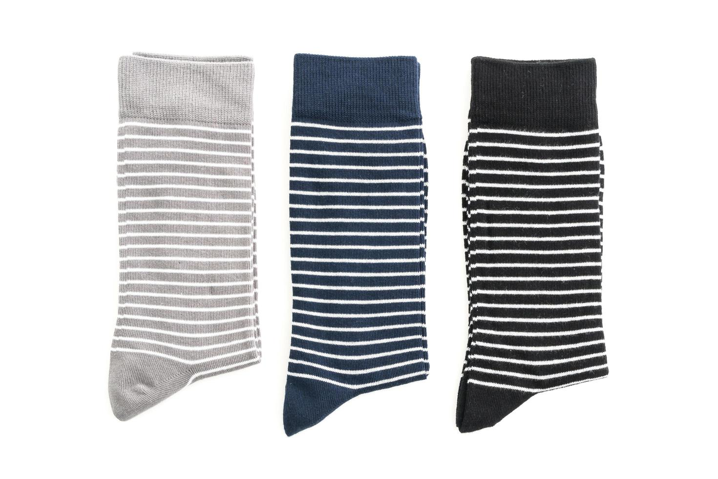 calcetines sobre fondo blanco foto