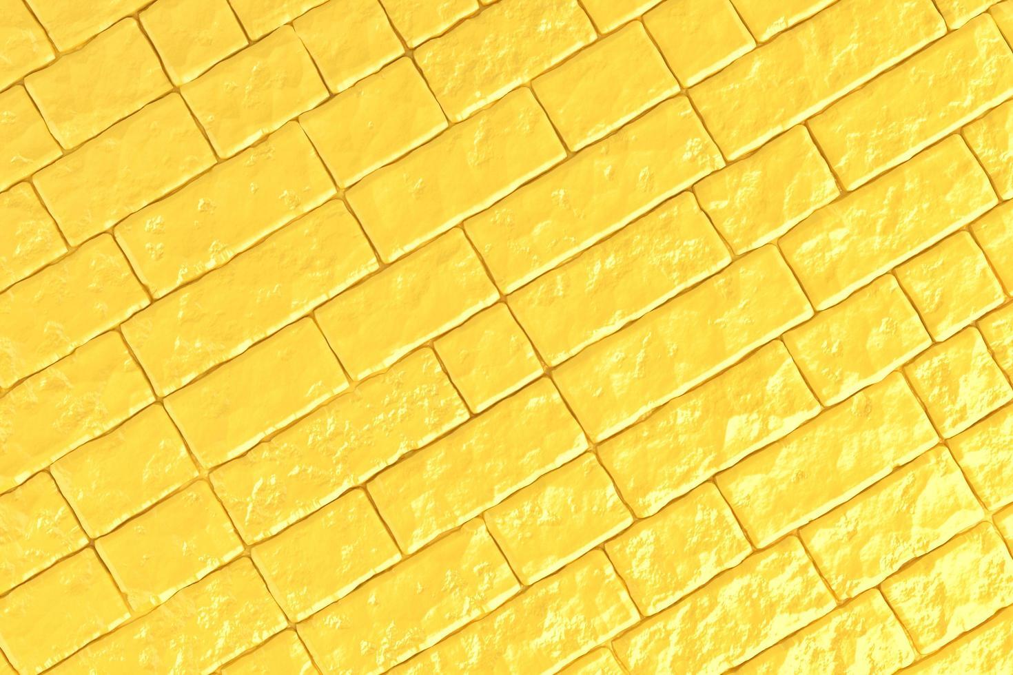 Ilustración 3d de una pared de ladrillo amarillo foto