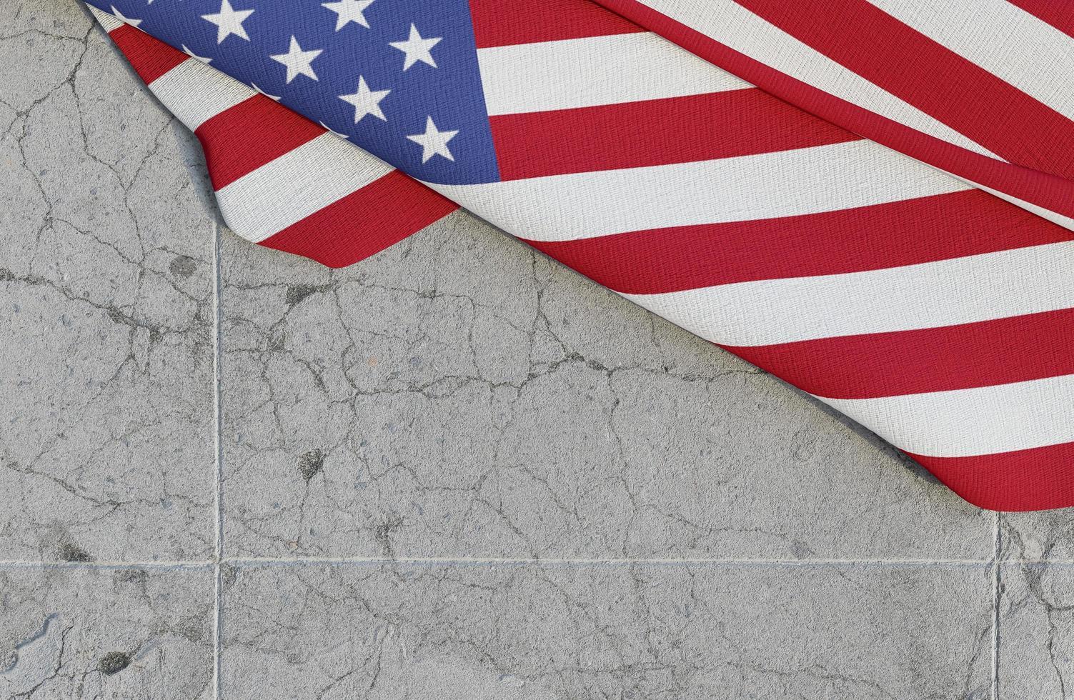 bandera americana en concreto foto