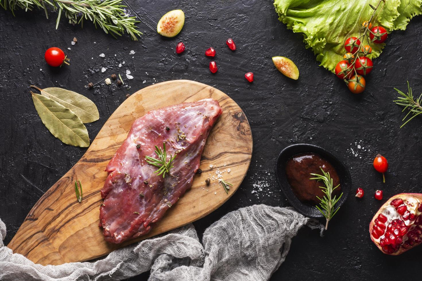 concepto de plato de carne foto