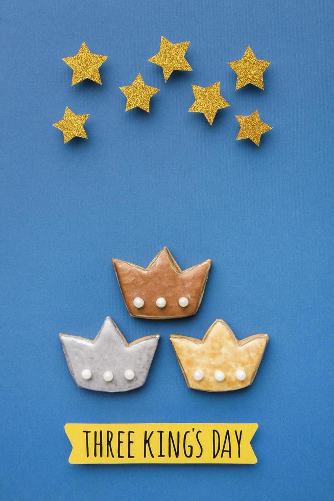 galletas del dia de los reyes magos foto