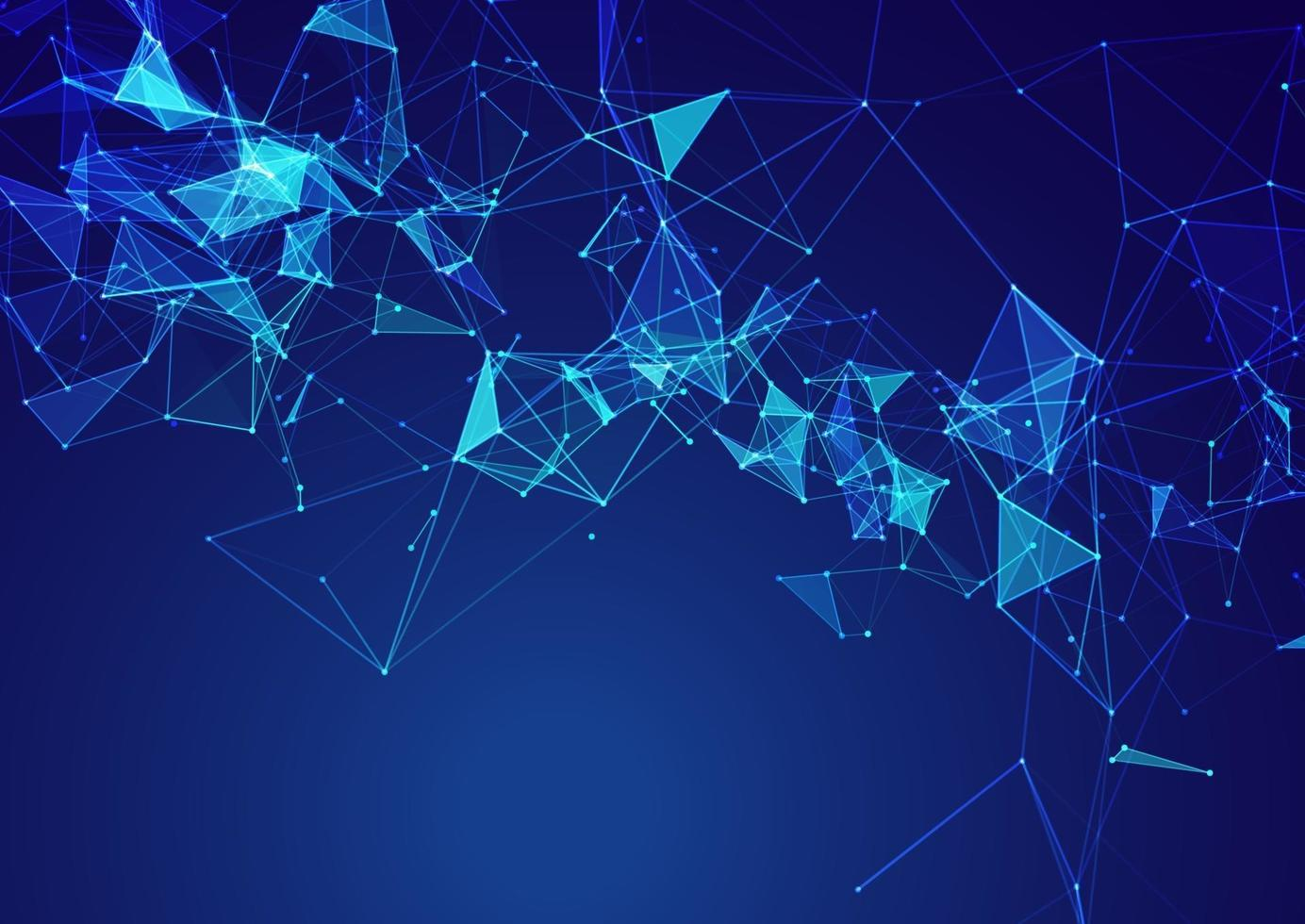 low poly network communications background vector