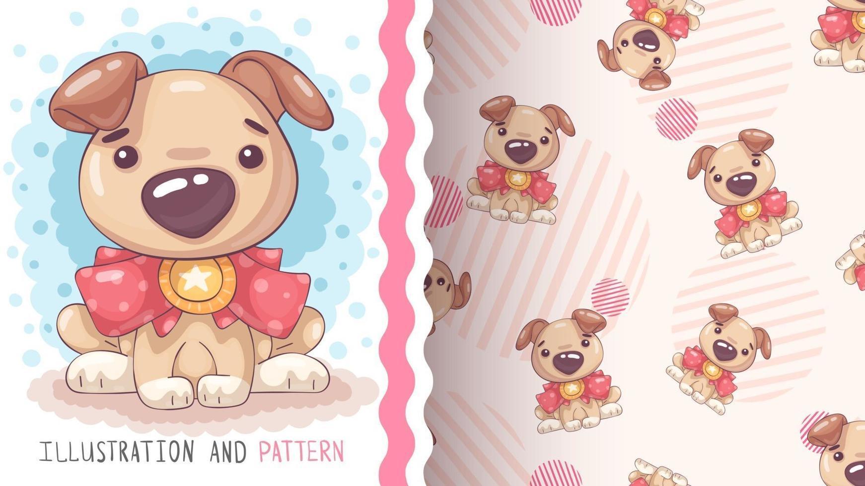 Funny cartoon character animal puppy vector