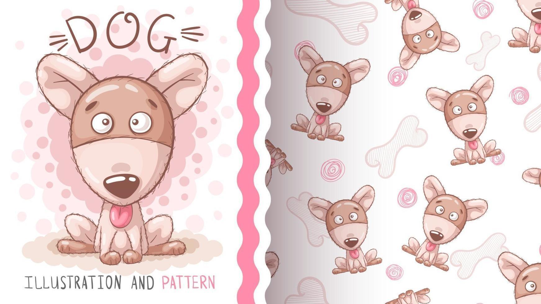 Adorable cartoon character animal puppy vector