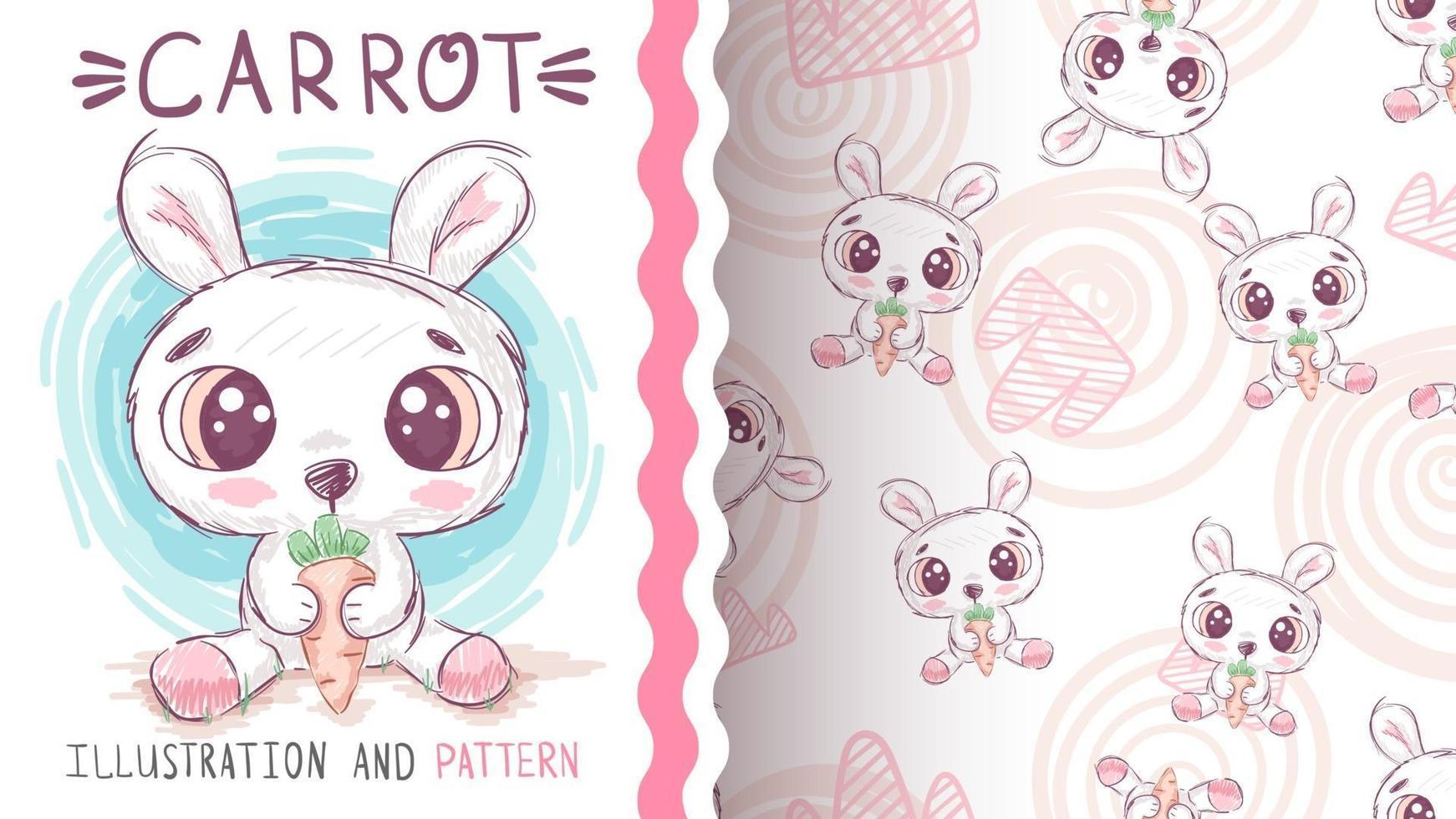 Cute cartoon character animal bunny vector