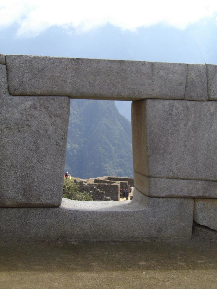View from the top of Machu Picchu photo